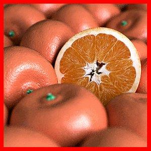 3D model orange tangerine