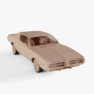 1972 Dodge Charger 3D model
