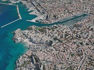 marseille city 3D model