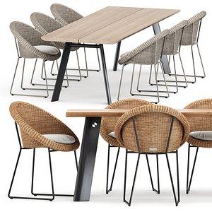 gigi armchair table 3D model