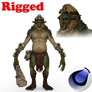 3D Demon Rigged 3D moodel