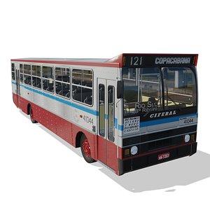 Onibus Ciferal Padron Alvorada 85 MB 1313 Real 3D model