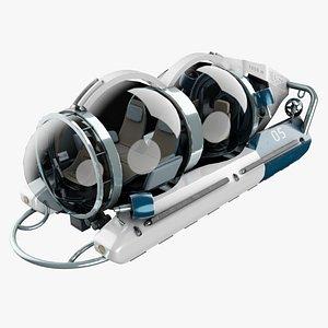 mini aurora submarine 3D model