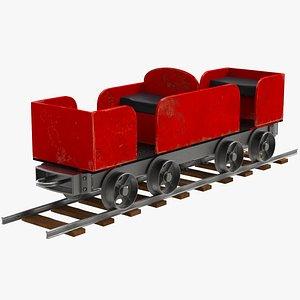 3D Ridable Miniature Railway Train Car model