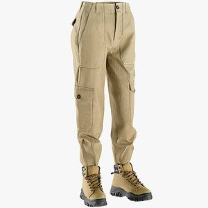 pants boots 3D model