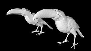 3D toucan bird