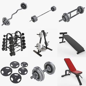 Sports equipment vol. 2 3D model