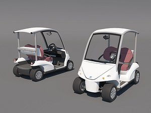 Sightseeing car amusement park golf cart mobility scooter 3D model
