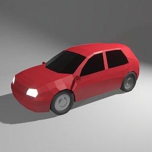 3D volkswagen golf 4 car model