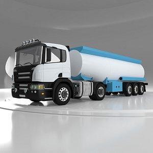 3D Oil Truck model