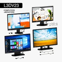 L3DV23G02 - computer monitors set 4 in 1 with 3 polylevels