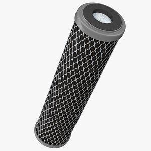 3D Universal Carbon Block Water Filter Cartridge model