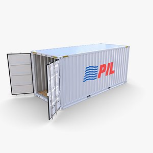 20ft Shipping Container PIL 3D model