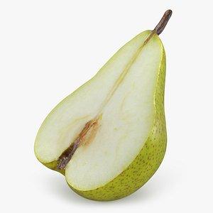 3D Pear Half