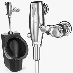 3D wall hung urinal