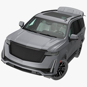 3D Luxury Large SUV Rigged