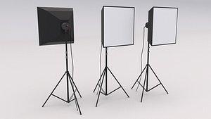 3D model Softbox Studio Light