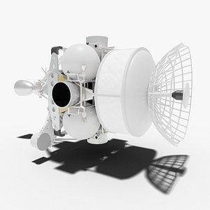 3D fighter istrebitel sputnikov model
