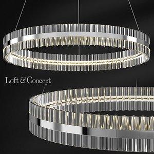 3D chandelier belted ring
