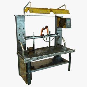 3D model home-made workbench