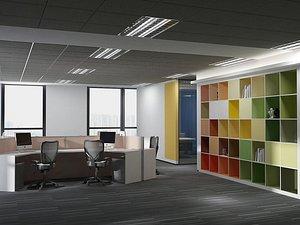 3D Office Office Office Large Office Office Hall Office Roam Modern Office Manager's Office Card Block model