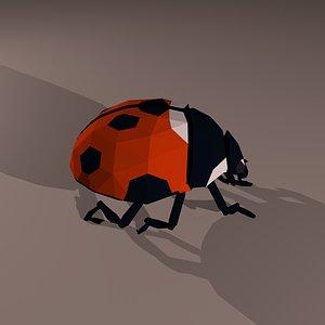 3D lady bug model