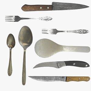 3D model Kitchen items pack