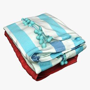 Clothes 234 Towels 3D model