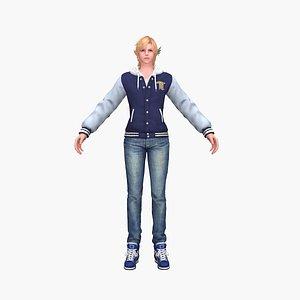 Schoolboy 3D model