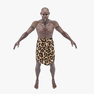 african warrior character 3D model