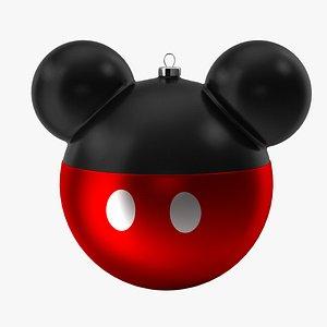 christmas ball mickey mouse 3D