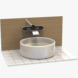Digital Bathroom Sink 3D model