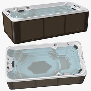 3D Jacuzzi 16ft Power Active Spa with Water model