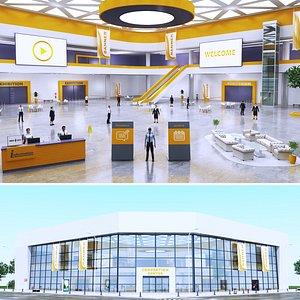 congress centre 3D model