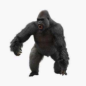 rigged gorilla model