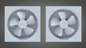 3D Exhaust Fan model