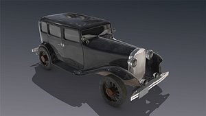 low-poly dodge 1930 model