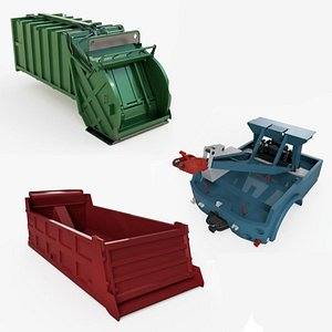 3D Industrial truck parts collection model
