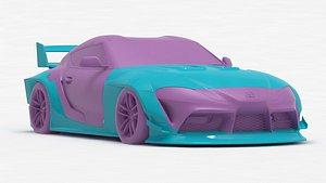 3D Toyota Supra A90 Liberty Walk bodykit printable