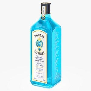 3D bombay sapphire gin 1