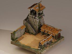Archer Barracks Level 10 . 3D model