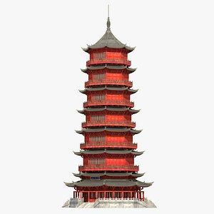 3D Chinese Pagoda 10