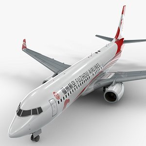 3D model boeing 737-8 fuzhou airlines