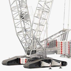 liebherr lr 1600-2 crawler crane 3D