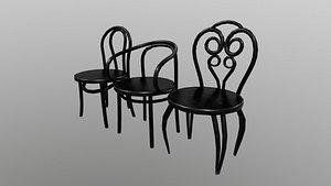 Chair loypoly PBR 3D model