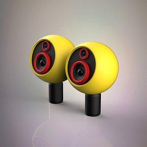 wood speakers 3D model