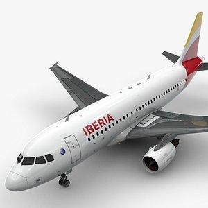 3D AirbusA319-100IBERIAL1423