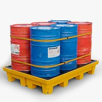 Pallet Barrels LODs GameReady