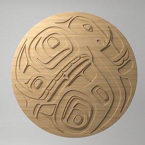 northwest coast art circular 3D