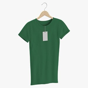 3D Female Crew Neck Hanging With Tag Green